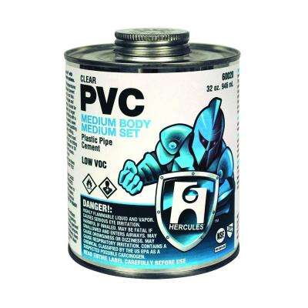 32 oz. PVC Clear Medium Body Cement