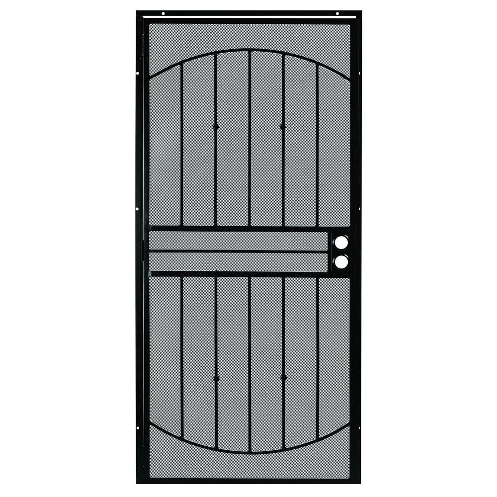 First Alert 36 in. x 80 in. Apollo Steel Security Door in Black Finish
