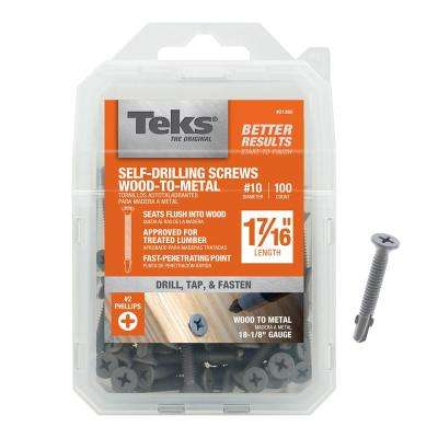 #10 x 1-7/16 in. Phillips Head Self-Tapping Screws (100-Pack)