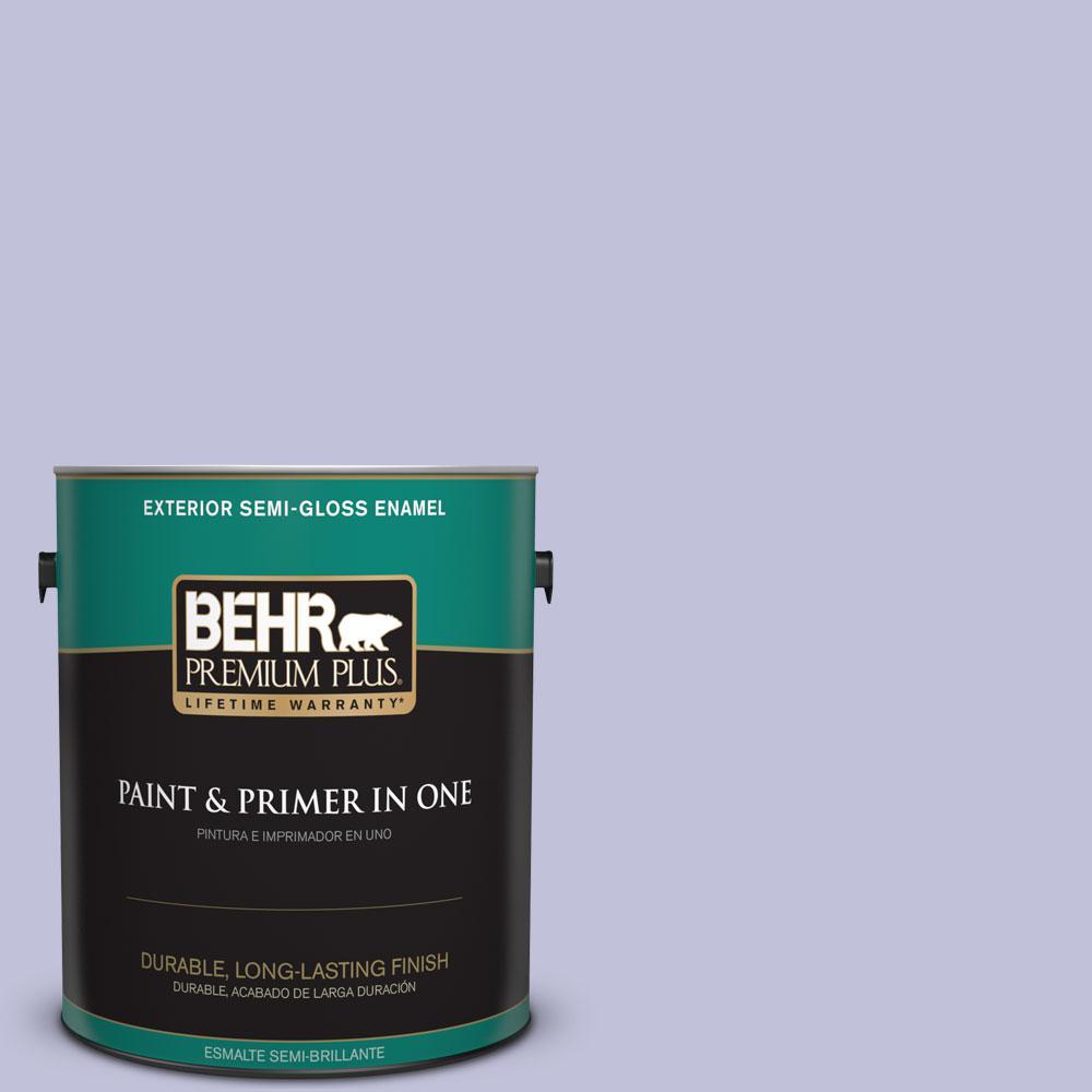 BEHR Premium Plus 1-gal. #M550-3 Foxglove Semi-Gloss Enamel Exterior Paint
