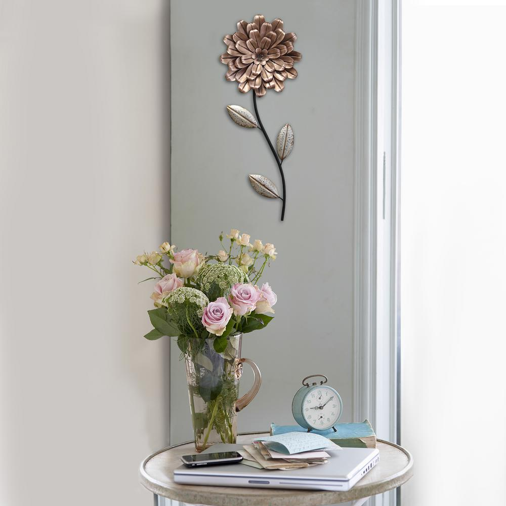Stratton Home Decor Romantic Flower Stem Wall Decor, Pink & Green A tender display of affection, the Romantic Flower Stem Wall Decor by Stratton Home Decor is a splendid addition to any room. Handcrafted of metal in pretty shades of blush pink and green. This decorative single bloom complements any decor with unique style and beauty. Color: Pink & Green.