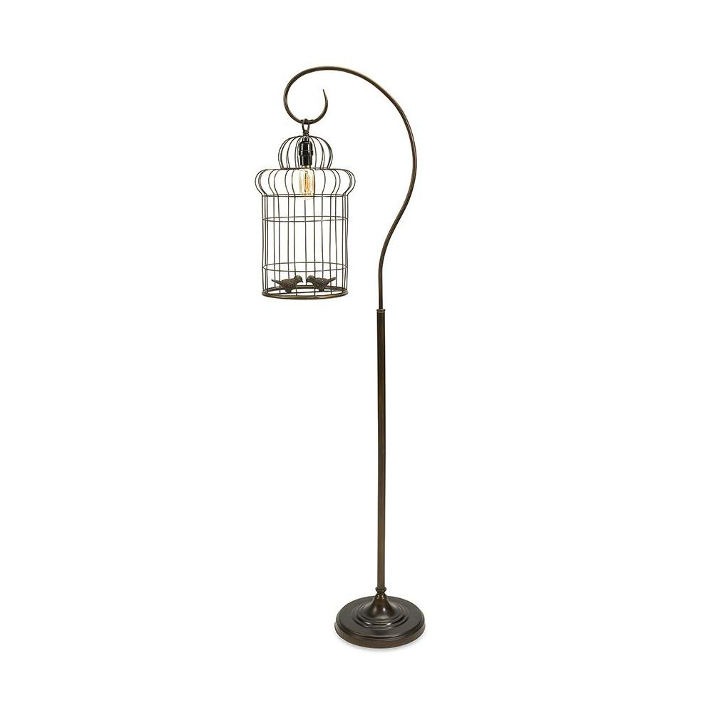 Black Birdcage Floor Lamp