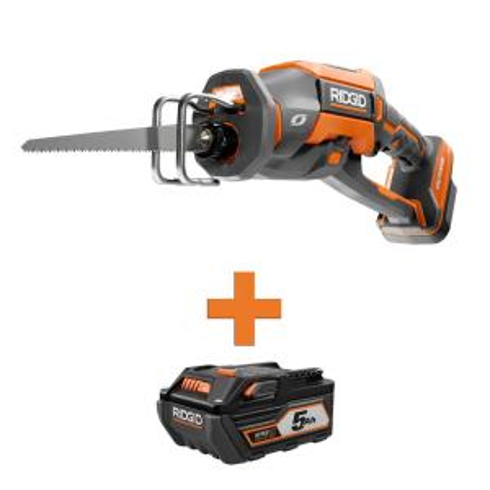 Ridgid 18-Volt OCTANE Cordless Brushless Reciprocating Saw w/Battery Deals