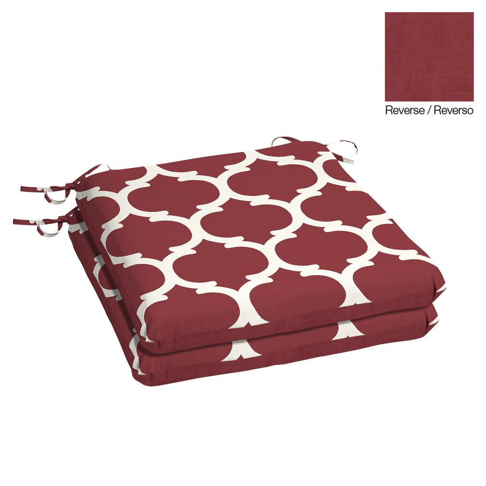 Hampton Bay 20 X 19 Frida Trellis Outdoor Chair Cushion 2 Pack