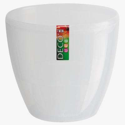 DECO 5.5 in. Transparent Plastic Self Watering Planter