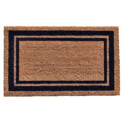 Dark Blue Border Door Mat 18 in. x 30 in.
