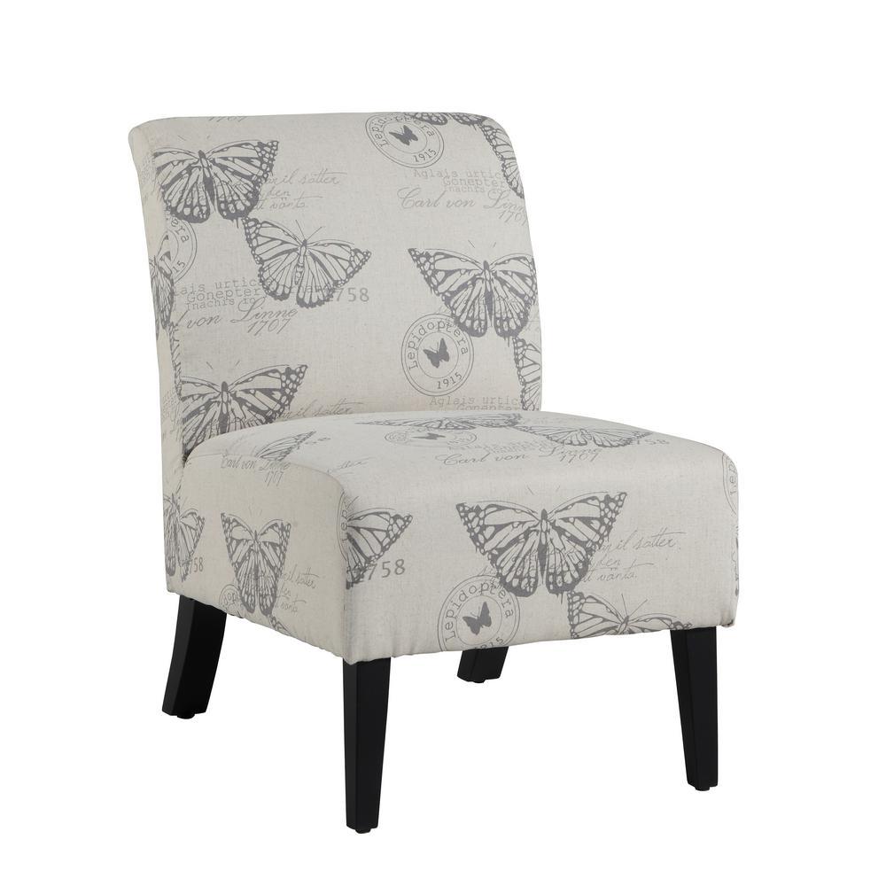 Eucalyptus Dark Espresso Linen Accent Chair
