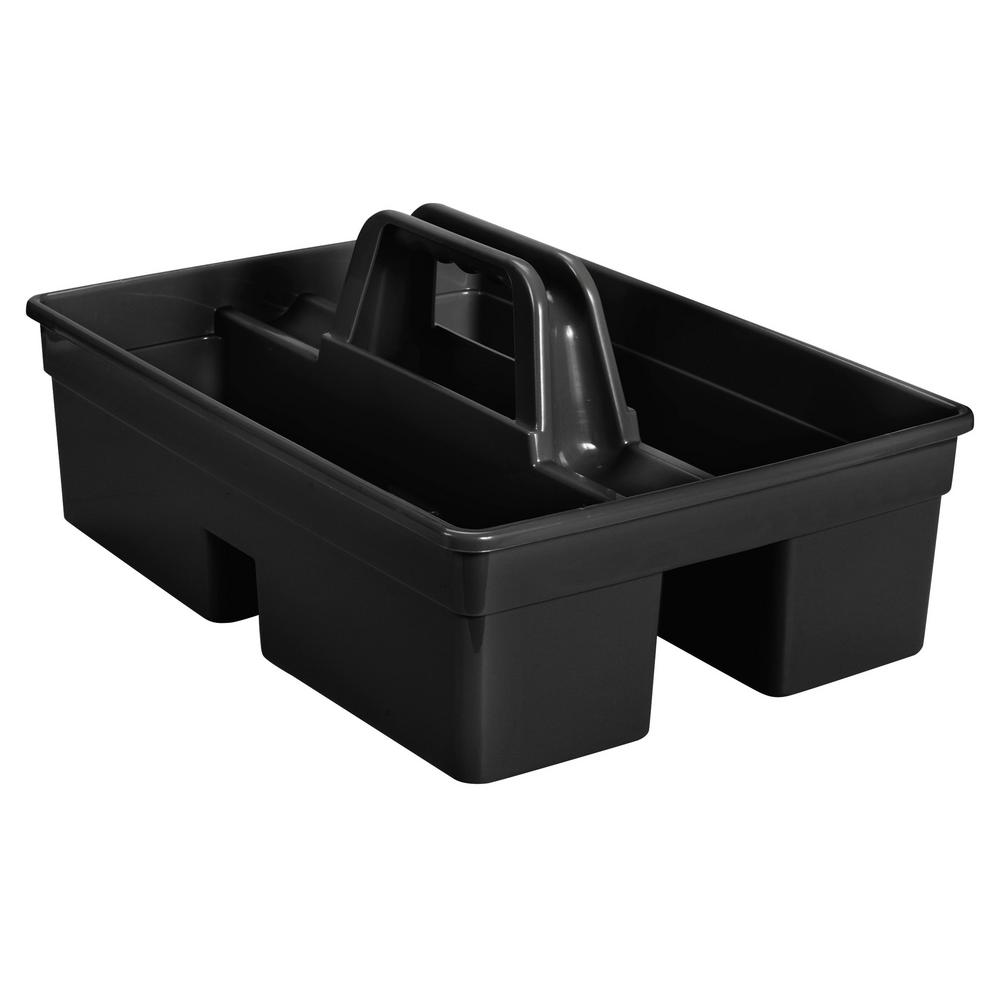 Swell Rubbermaid Commercial Products Black Divided Carry Caddy Download Free Architecture Designs Scobabritishbridgeorg