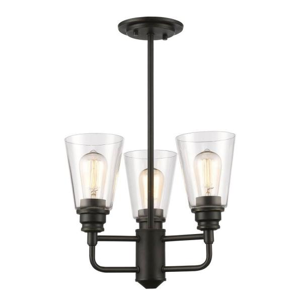 Nina 3-Light Olde Bronze Semi-Flush Mount Light
