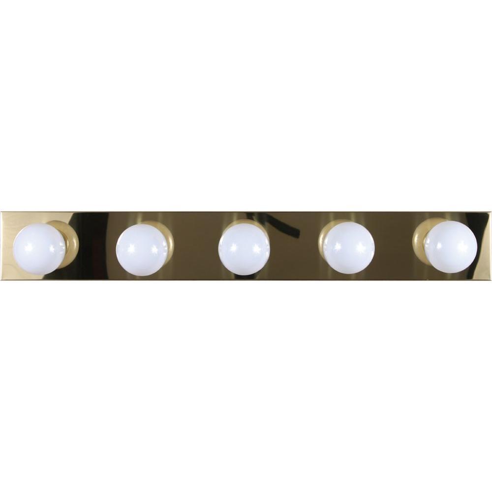 Volume Lighting 5 Light Polished Brass Bath And Vanity Light V1025 2 The Home Depot