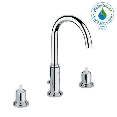 Atrio 8 in. Widespread 2-Handle 1.2 GPM Bathroom Faucet in StarLight Chrome