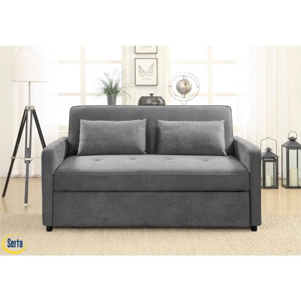 Serta C Convertible To Queen Bed Grey