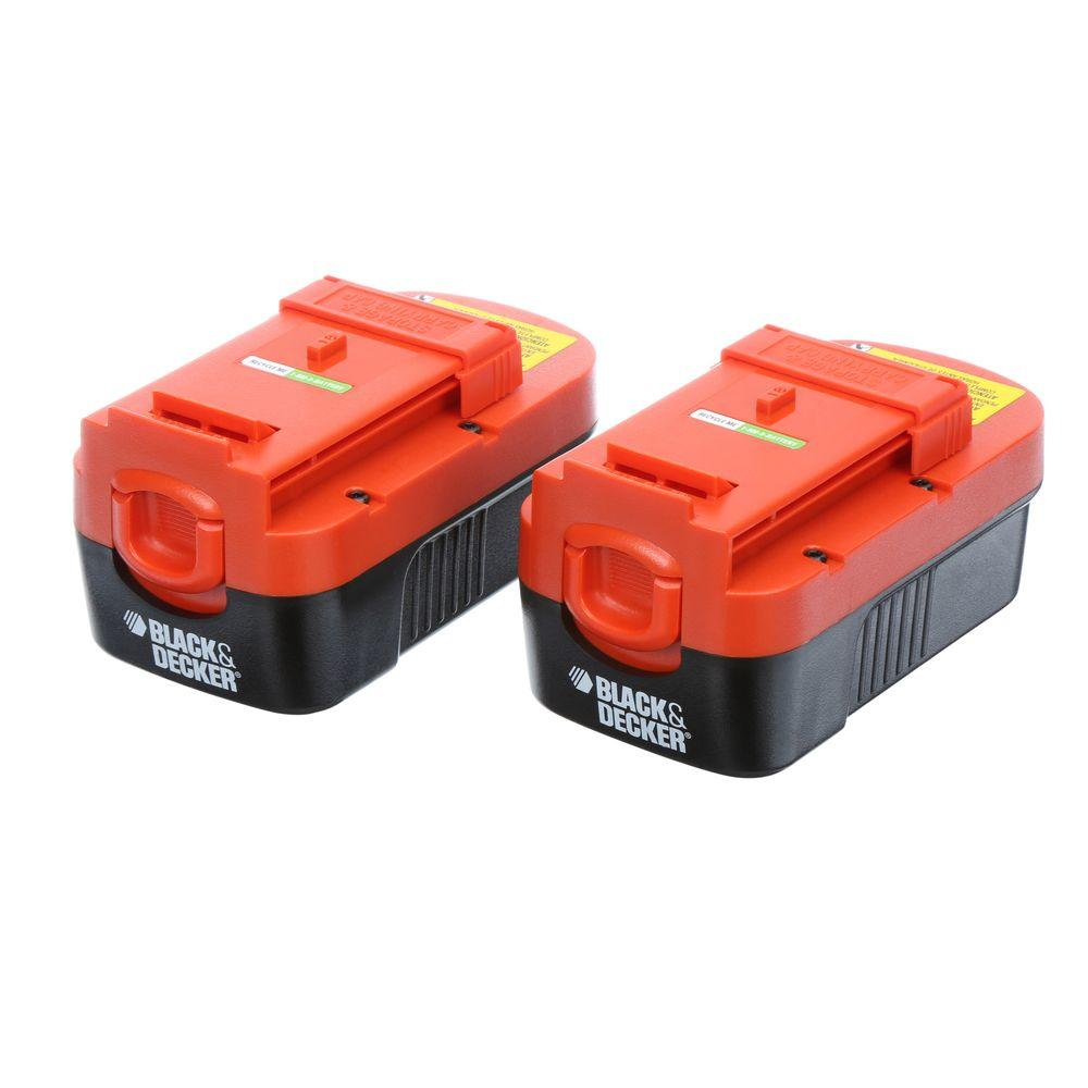 Black Decker 18 Volt 15ah Ni Cad Battery 2 Pack Charger Not Automatic Mh Can Make By Yourself