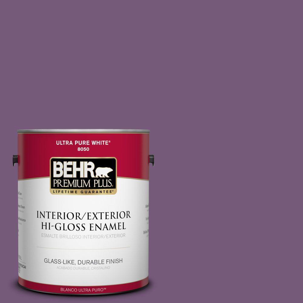 BEHR Premium Plus 1-gal. #670D-7 Gala Ball Hi-Gloss Enamel Interior/Exterior Paint