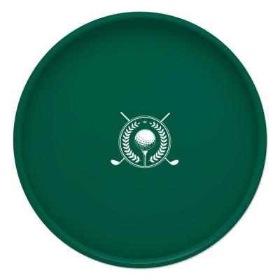 Kasualware Golf 14 in. Round Serving Tray in Green