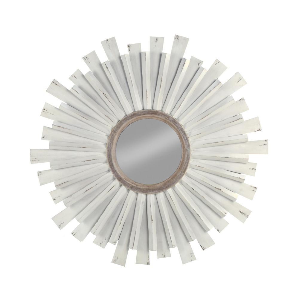 39.5 in. H x 39.5 in. W Medium Round White Classic Mirror