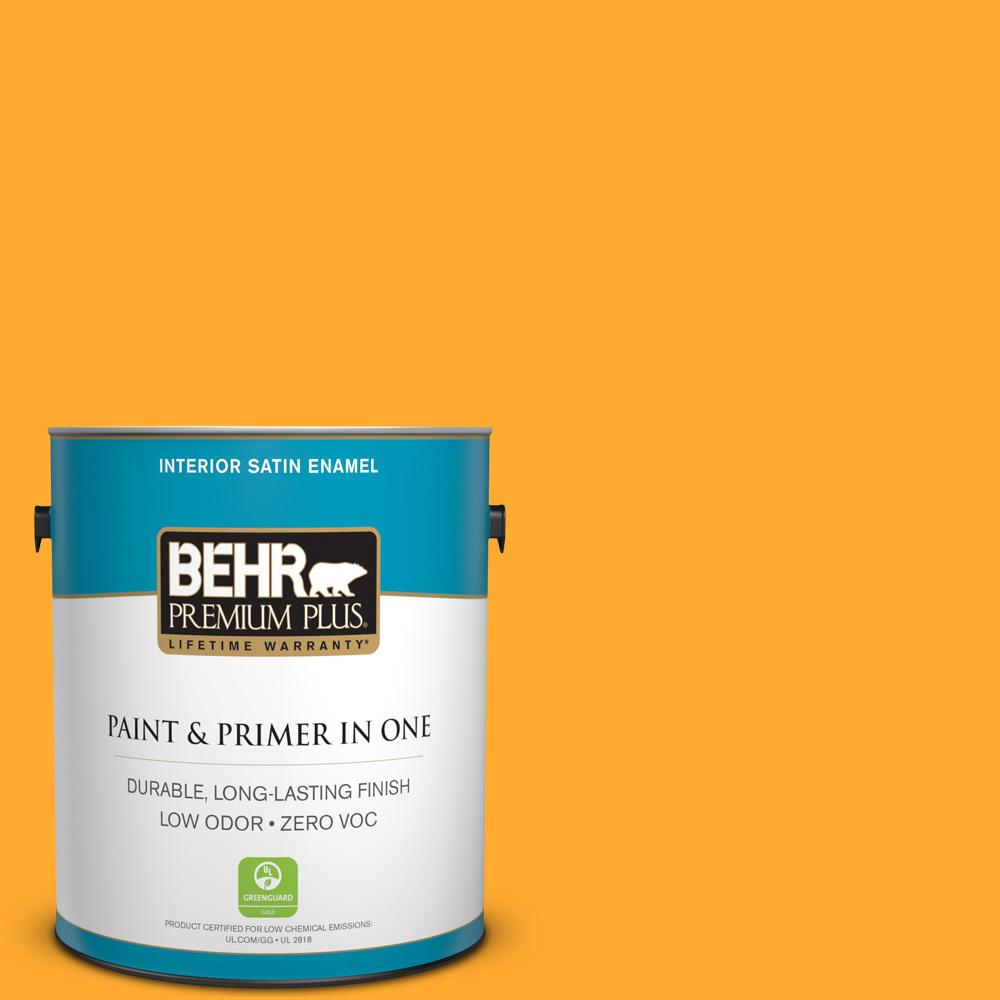 1 gal. #S-G-310 Peach Butter Satin Enamel Zero VOC Interior Paint