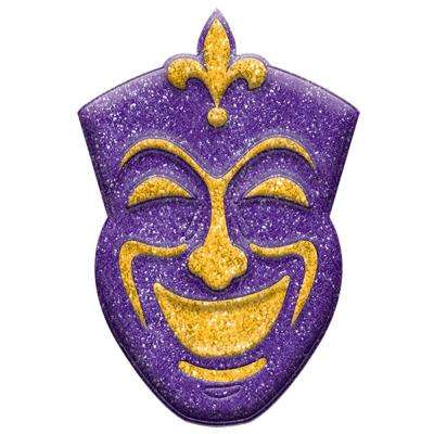 14 in. Mardi Gras Plastic Comedy Mask 3D Decoration (5-Pack)