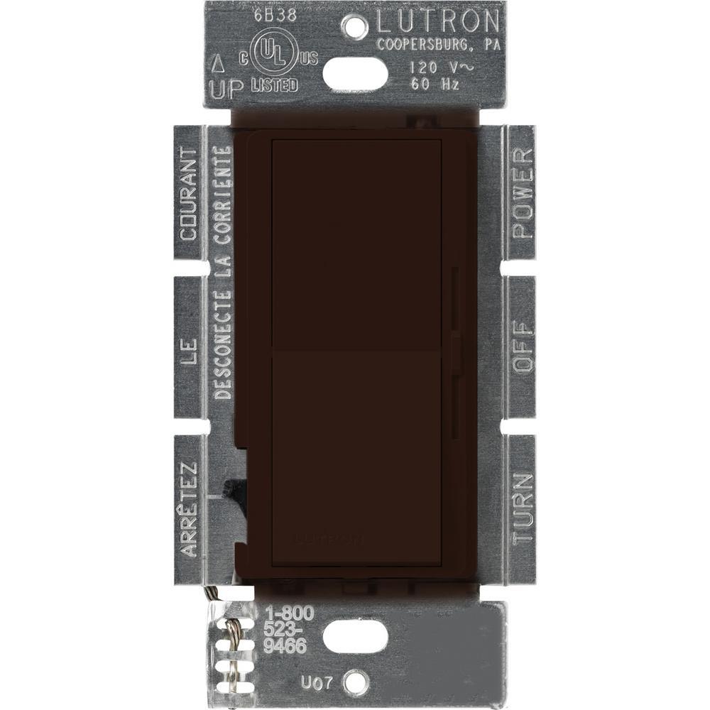Lutron Diva 1000 Watt 3 Way Preset Dimmer Brown Dv 103p