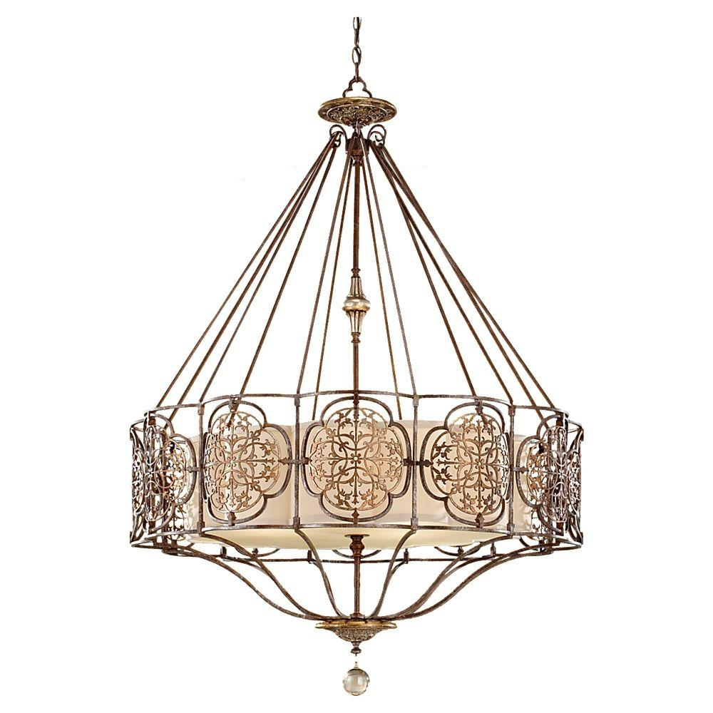 Feiss Marcella 4-Light British Bronze/Oxidized Bronze Uplight Chandelier Shade