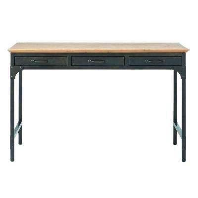 Ambrose Natural Desk with Storage