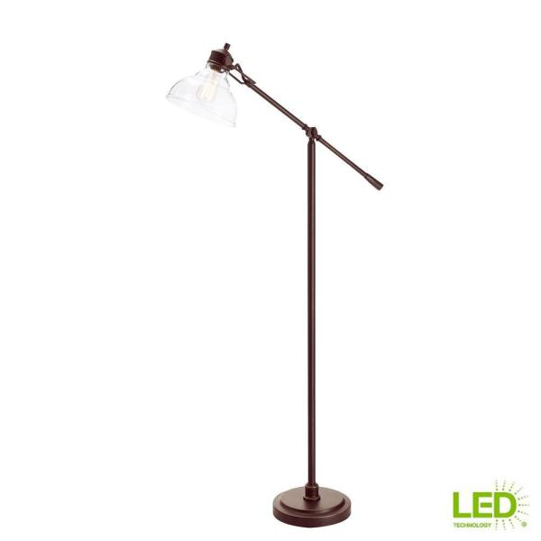 Hampton Bay 54 5 In Oil Rubbed Bronze Counter Balance Floor Lamp 20045 001 The Home Depot