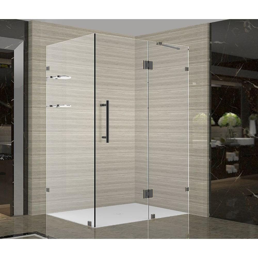 Aston Avalux GS 42 In. X 34 In. X 72 In. Completely Frameless Shower  Enclosure With Glass Shelves In Oil Rubbed Bronze SEN992 ORB 4234 10   The  Home Depot