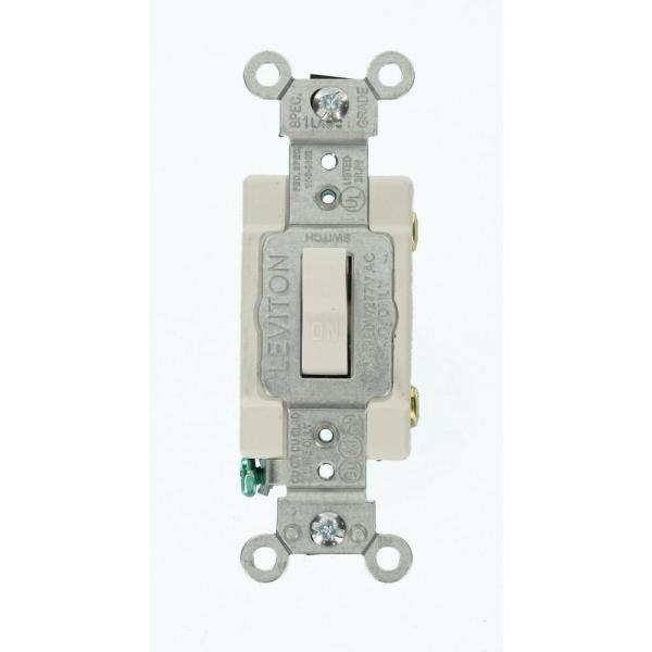Leviton 15 Amp Commercial Grade Single Pole Toggle Switch