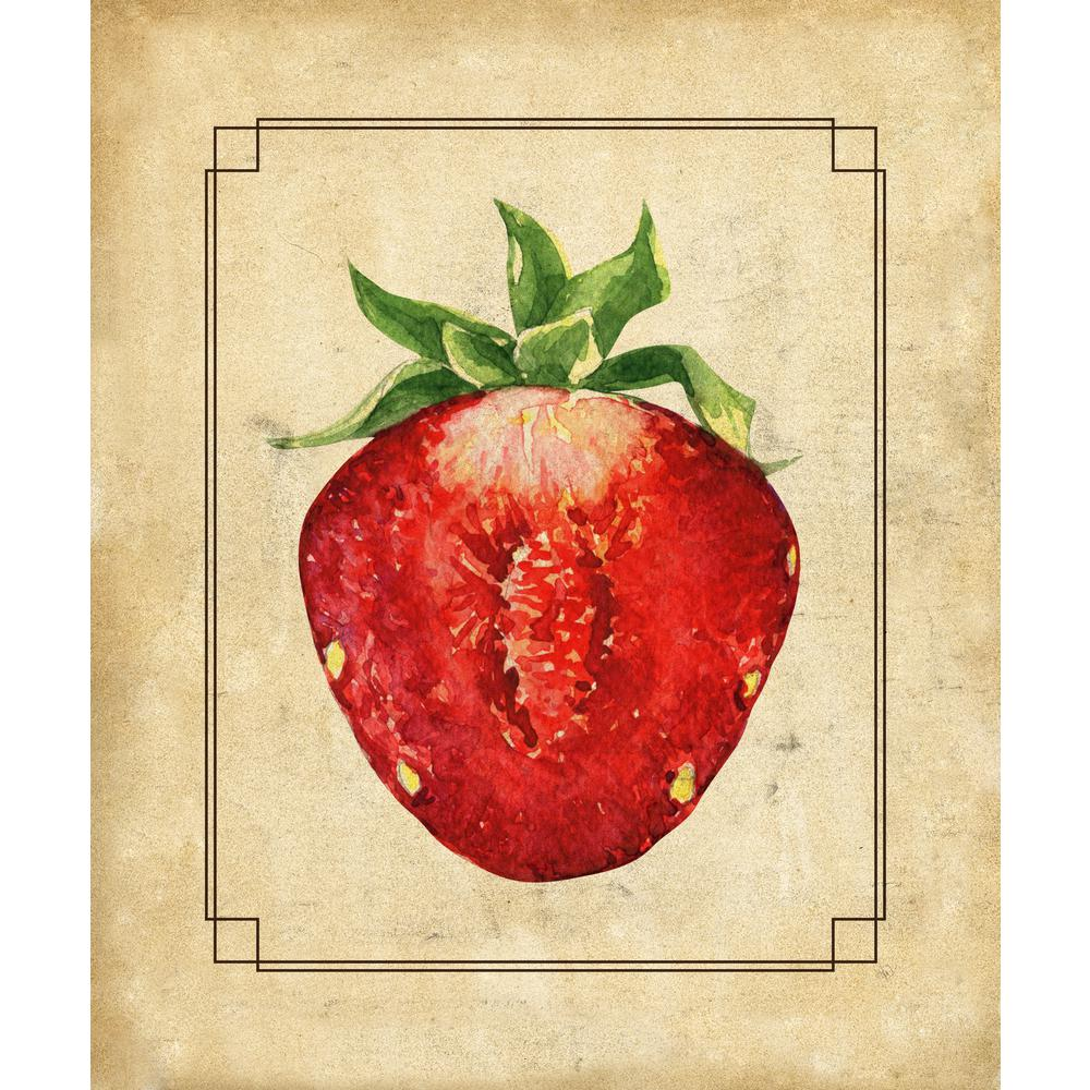 Creative Gallery 16 in. x 20 in. Strawberry Half Wrapped Canvas Wall ...
