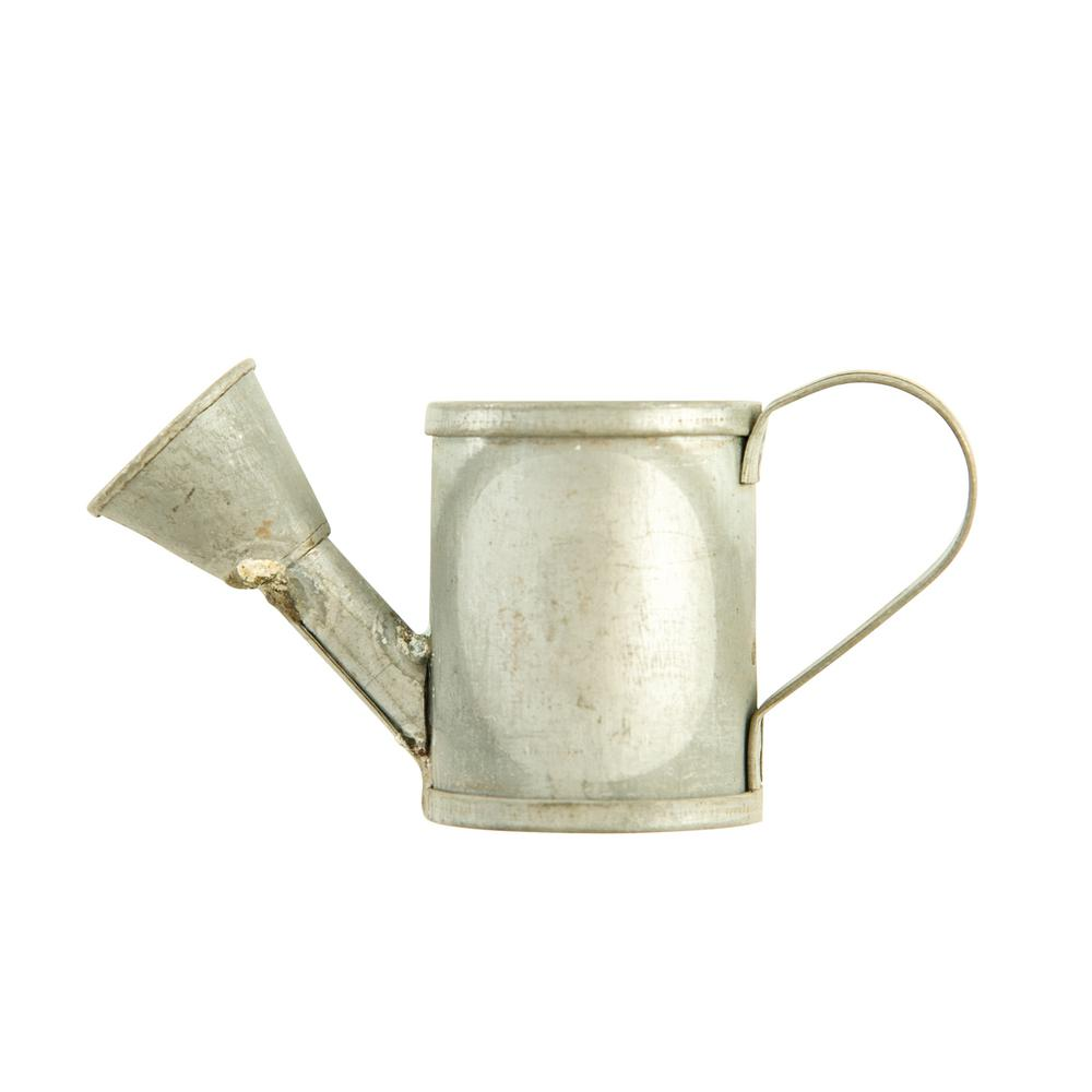 3r Studios 4 5 In W X 2 In H Silver Galvanized Metal Vintage Metal Watering Can Napkin Rings Set Of 4 Df1701 The Home Depot