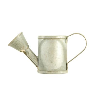 4.5 in. W x 2 in. H Silver Galvanized Metal Vintage Metal Watering Can Napkin Rings (Set of 4)