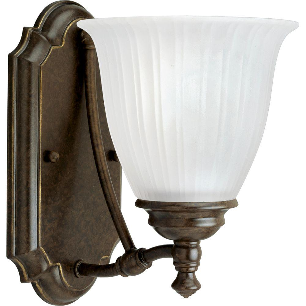Progress Lighting Renovations Collection 1-Light Forged Bronze Vanity Fixture