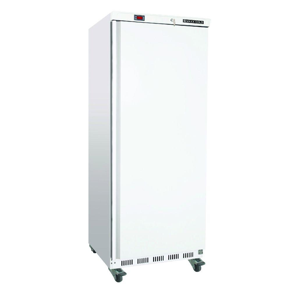 23 cu. ft. Single Door Commercial Upright Reach-In Freezer in White
