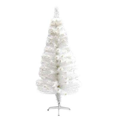 5 ft. Pre-Lit Artificial Christmas Tree with 170 Multi-Colored Lights