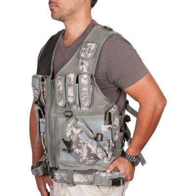 Adjustable Tactical Military and Hunting Vest in Digital Camo