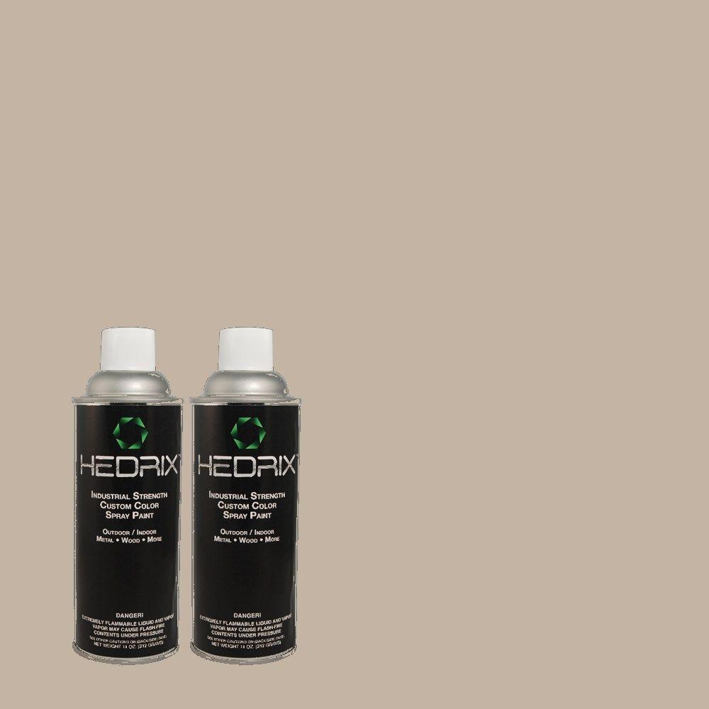 Hedrix 11 oz. Match of RAH-13 Flannel Grey Gloss Custom Spray Paint (2-Pack)