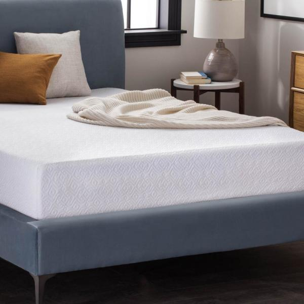 LUCID 10 in. Twin Dual Layer Gel Memory Foam Mattress