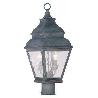 Exeter 2-Light Outdoor Charcoal Post Head Lantern