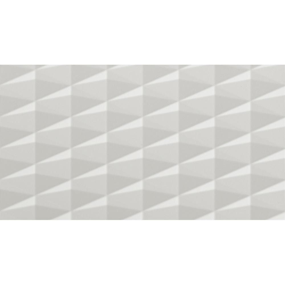 Gemma White 3D 12 in. x 22 in. Ceramic Wall Tile