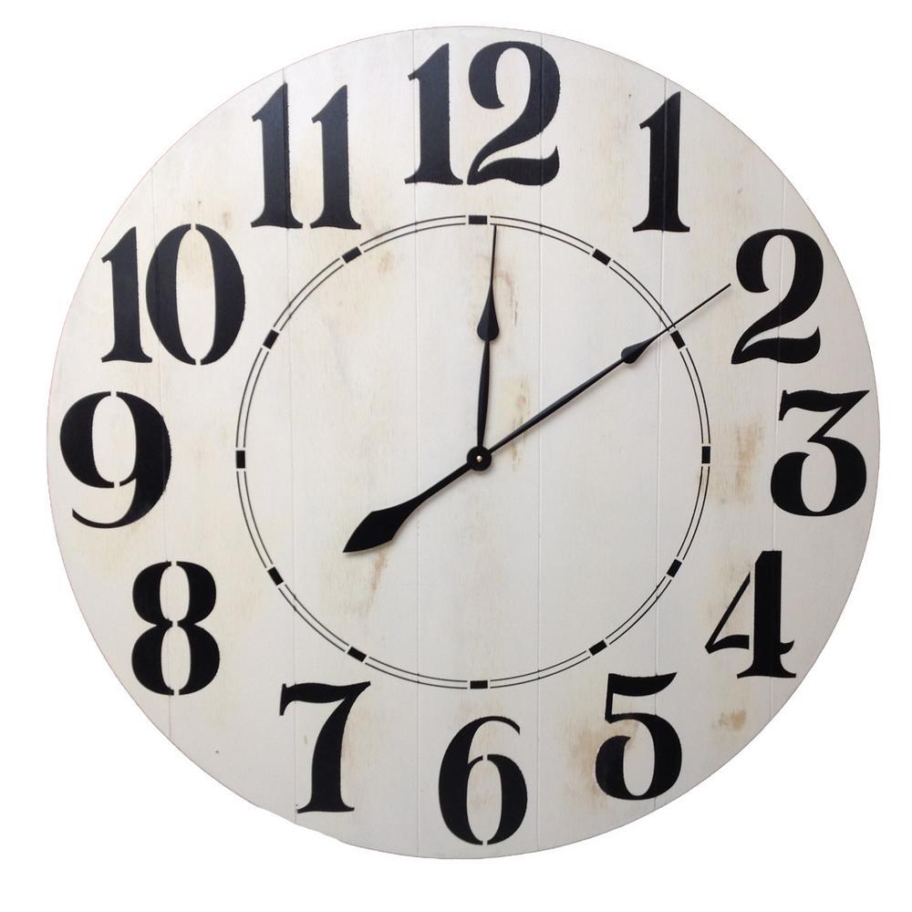 24 in. Oversized Farmhouse Wall Clock