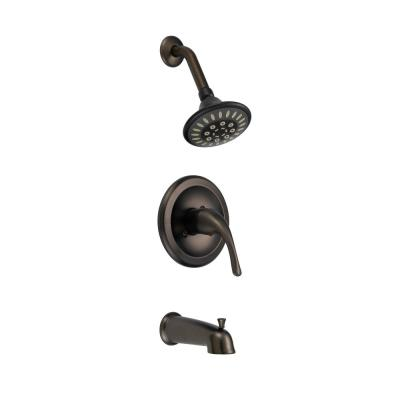 Single Handle Single Spray Pressure Balanced Tub and Shower Faucet in Oil Rubbed Bronze Valve Included