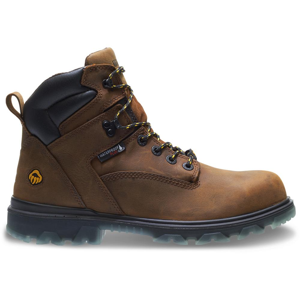 "Wolverine Men's I-90 EPX 11M Brown Full-Grain Leather Waterproof Composite-Toe 6"" Boot"