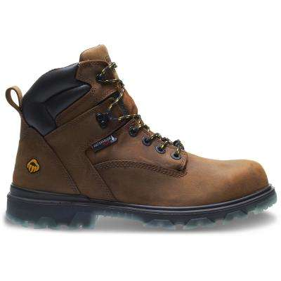 "Men's I-90 EPX 12EW Brown Full-Grain Leather Waterproof Composite-Toe 6"" Boot"