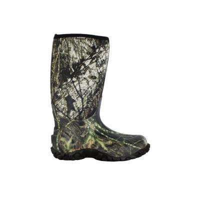 Classic Camo Men's 15 in. Size 8 Mossy Oak Rubber with Neoprene Waterproof Hunting Boot