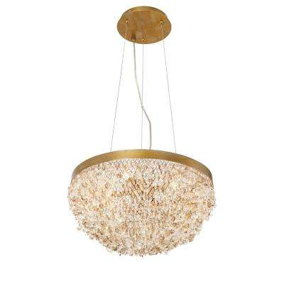 Mondo Collection 5-Light Gold Chandelier with Clustered Crystal Shade