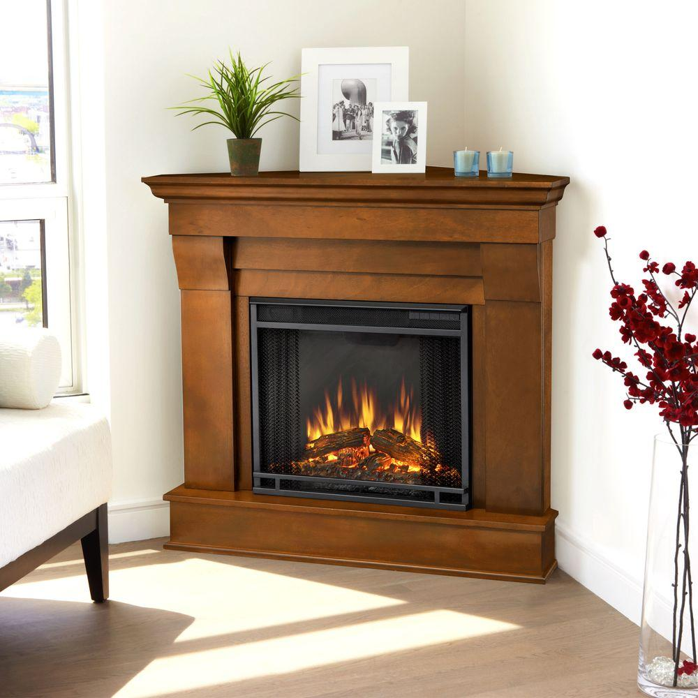 Real Flame Chateau 41 in. Corner Electric Fireplace in Espresso