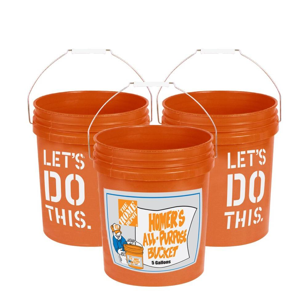 The Home Depot 5 Gal. Homer Bucket (3-Pack)-05GLHD2
