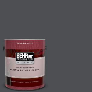 1 gal. #UL260-1 Cracked Pepper Matte Interior Paint and Primer in One