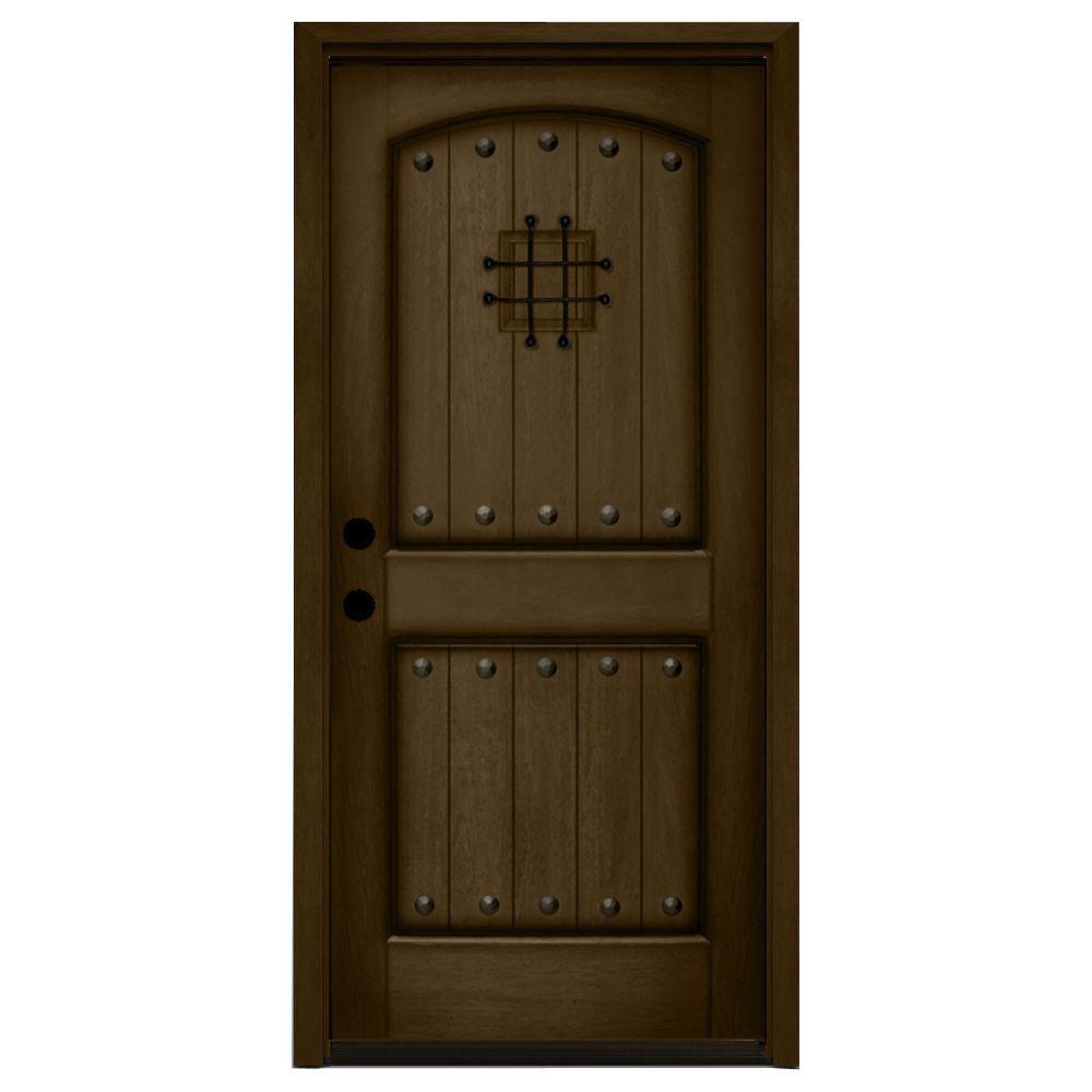Solid Wood Entry Doors Home Depot: Steves & Sons 32 In. X 80 In. Rustic 2-Panel Speakeasy