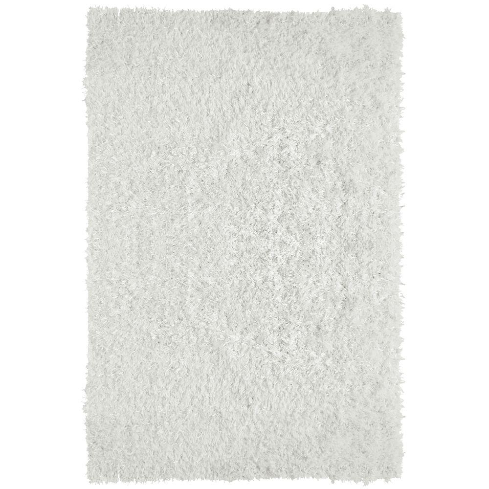 City Sheen White Polyester 8 ft. x 10 ft. Area Rug